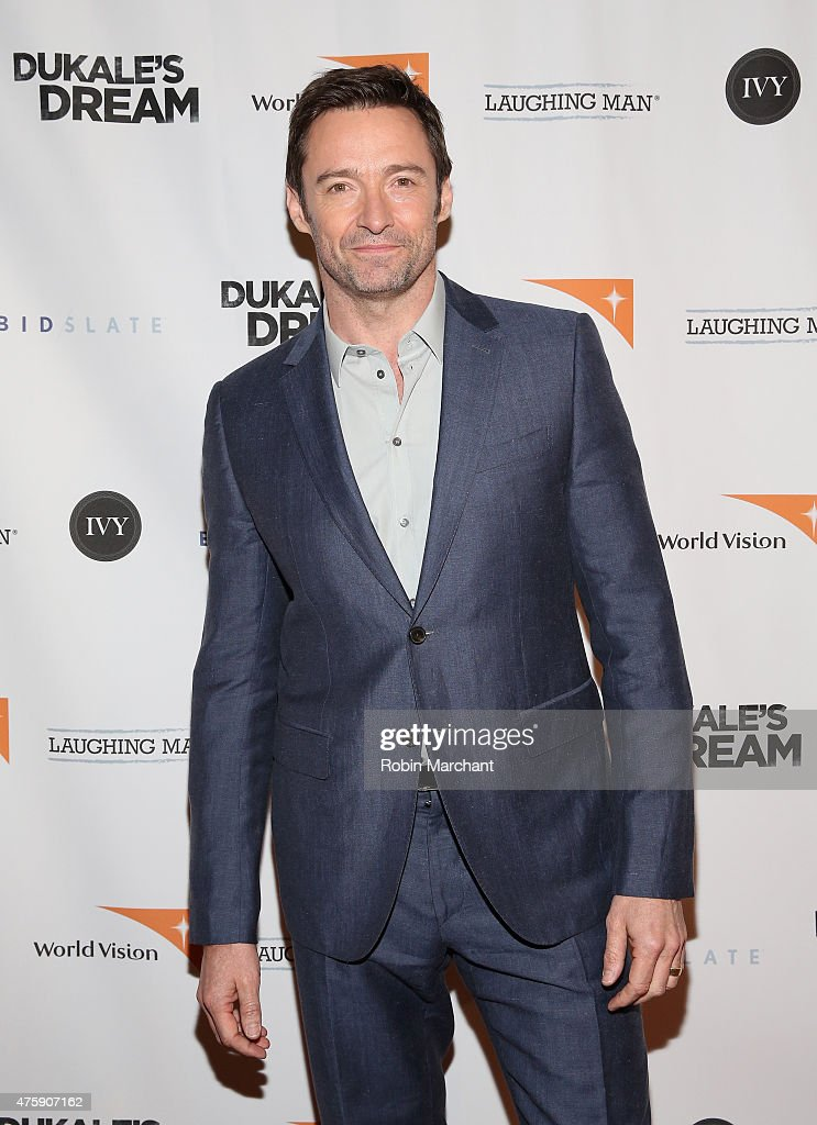 Actor <a gi-track='captionPersonalityLinkClicked' href=/galleries/search?phrase=Hugh+Jackman&family=editorial&specificpeople=202499 ng-click='$event.stopPropagation()'>Hugh Jackman</a> attends the premiere of Dukale's Dream on June 4, 2015 in New York City.