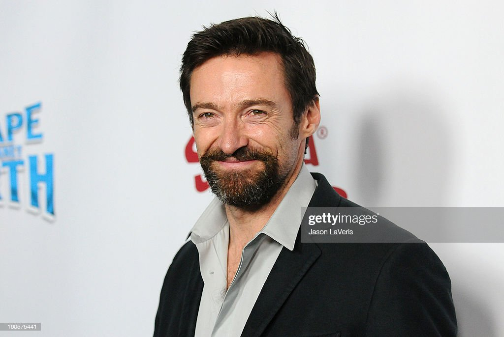 Actor <a gi-track='captionPersonalityLinkClicked' href=/galleries/search?phrase=Hugh+Jackman&family=editorial&specificpeople=202499 ng-click='$event.stopPropagation()'>Hugh Jackman</a> attends the premiere of 'Escape From Planet Earth' at Mann Chinese 6 on February 2, 2013 in Los Angeles, California.