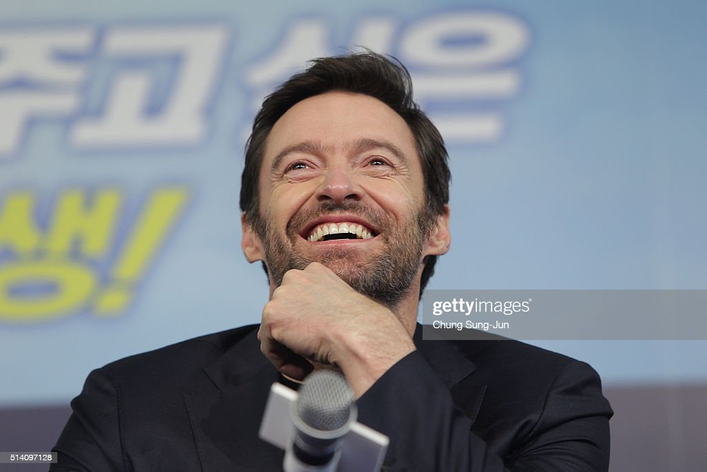 Hugh Jackman is visiting South Korea to promote his recent film 'Eddie