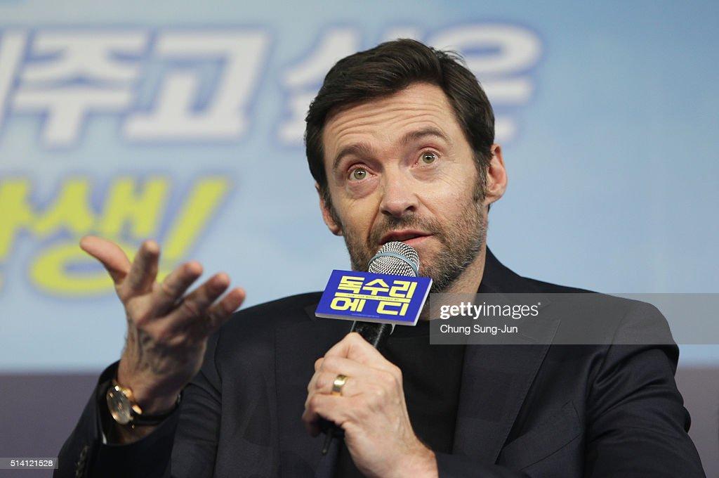 Hugh Jackman is visiting South Korea to promote his recent film 'Eddie