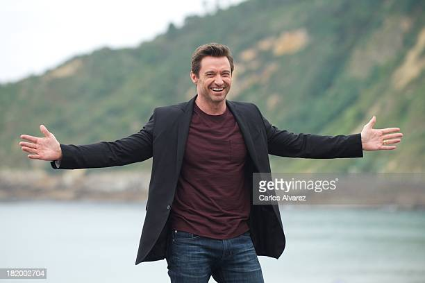 Actor Hugh Jackman attends the 'Prisioners' photocall during the 61st San Sebastian International Film Festival at the Kursaal Palace on September 27...