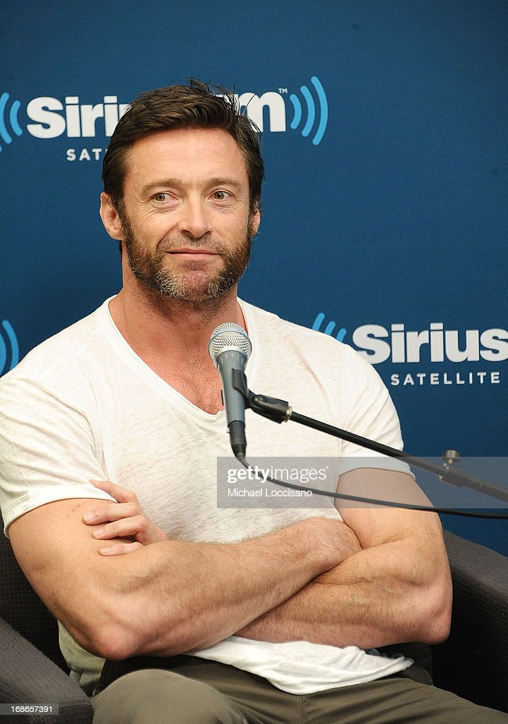 Actor Hugh Jackman attends the 'SiriusXM's Town Hall With Hugh Jackman' and moderator Jess Cagle launch of the Entertainment Weekly Radio Channel on May 10, 2013 in New York City.