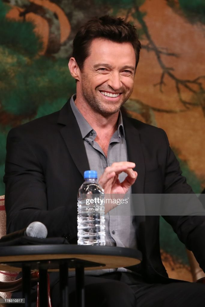 Actor <a gi-track='captionPersonalityLinkClicked' href=/galleries/search?phrase=Hugh+Jackman&family=editorial&specificpeople=202499 ng-click='$event.stopPropagation()'>Hugh Jackman</a> attends the 'The Wolverine' press conference at the Meguro Gajyoen on August 29, 2013 in Tokyo, Japan.