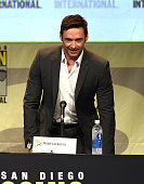 Actor Hugh Jackman attends the Warner Bros 'Pan' presentation during ComicCon International 2015 at the San Diego Convention Center on July 11 2015...
