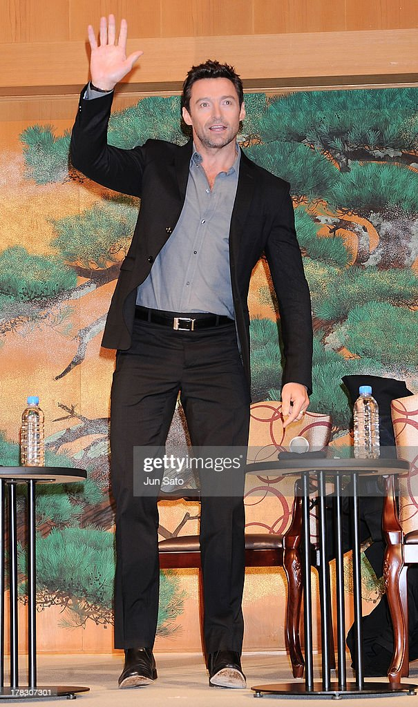 Actor <a gi-track='captionPersonalityLinkClicked' href=/galleries/search?phrase=Hugh+Jackman&family=editorial&specificpeople=202499 ng-click='$event.stopPropagation()'>Hugh Jackman</a> attends 'The Wolverine' press conference at the Meguro Gajyoen on August 29, 2013 in Tokyo, Japan.