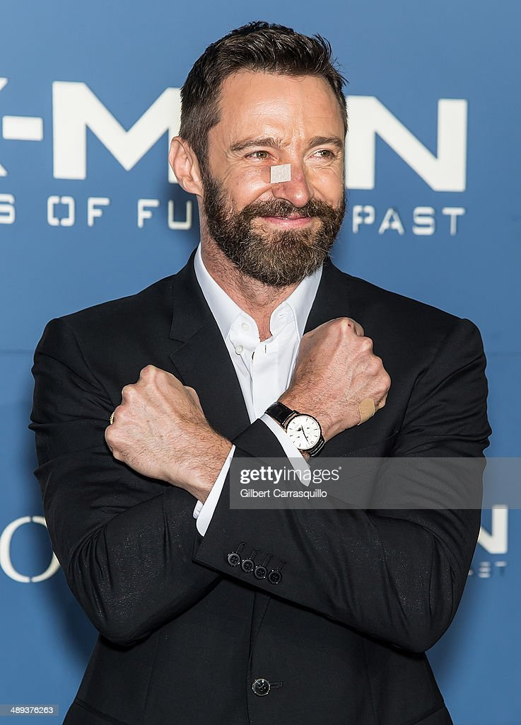 Actor Hugh Jackman attends the 'X-Men: Days Of Future Past' world premiere at Jacob Javits Center on May 10, 2014 in New York City.
