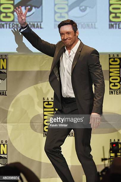 Actor Hugh Jackman from 'Pan' attends the Warner Bros presentation during ComicCon International 2015 at the San Diego Convention Center on July 11...