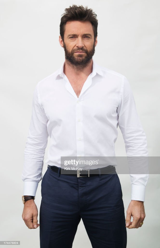 Actor <a gi-track='captionPersonalityLinkClicked' href=/galleries/search?phrase=Hugh+Jackman&family=editorial&specificpeople=202499 ng-click='$event.stopPropagation()'>Hugh Jackman</a> is photographed at Comic Con for Los Angeles Times on July 25, 2013 in San Diego, California. PUBLISHED IMAGE.
