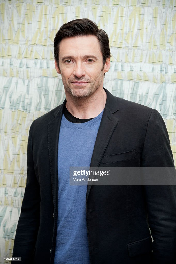Actor <a gi-track='captionPersonalityLinkClicked' href=/galleries/search?phrase=Hugh+Jackman&family=editorial&specificpeople=202499 ng-click='$event.stopPropagation()'>Hugh Jackman</a> is photographed for a portrait call for 'Chappie' at the Crosby Hotel on February 10, 2015 in New York City.