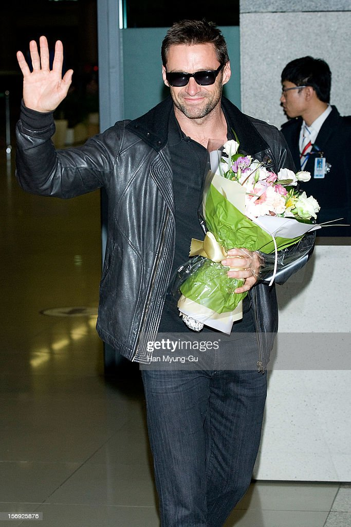 Actor Hugh Jackman is seen upon arrival at Incheon International Airport on November 25, 2012 in Incheon, South Korea.