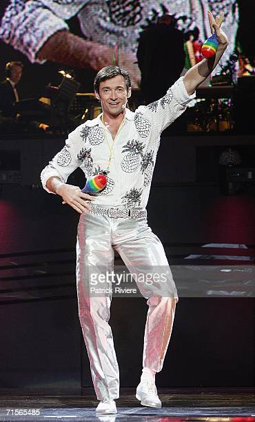 Actor Hugh Jackman performs at the media call for 'The Boy From Oz' a musical based on the life of 1970's singersongwriter Peter Allen at the Sydney...