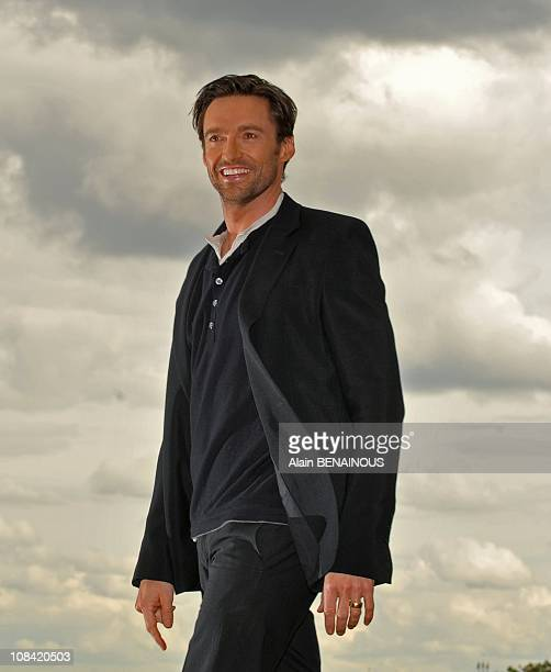 Actor Hugh Jackman poses as he attends a photocall for the 'Wolverine' film in Paris France on April 17 2009