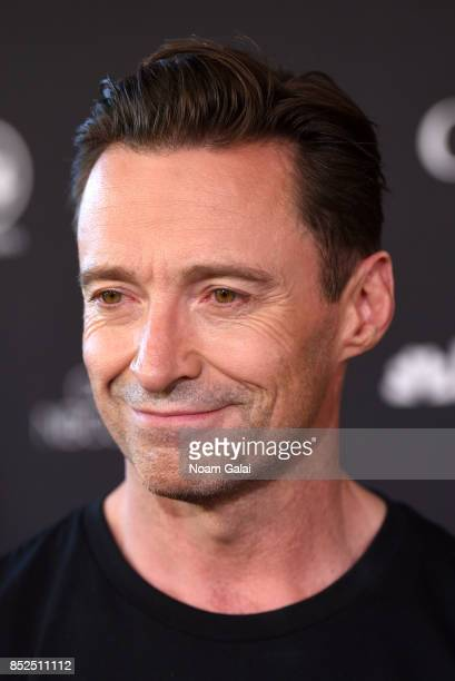 Actor Hugh Jackman poses in the VIP Lounge during the 2017 Global Citizen Festival in Central Park on September 23 2017 in New York City