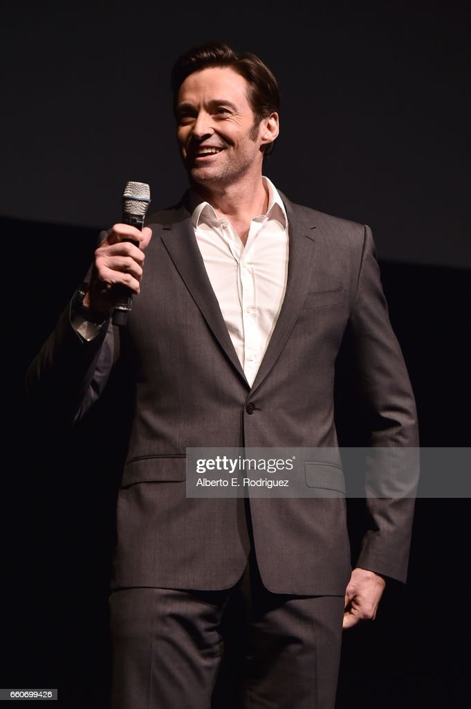 Actor Hugh Jackman speaks onstage at CinemaCon 2017 20th Century Fox Invites You to a Special Presentation Highlighting Its Future Release Schedule at The Colosseum at Caesars Palace during CinemaCon, the official convention of the National Association of Theatre Owners, on March 30, 2017 in Las Vegas, Nevada.