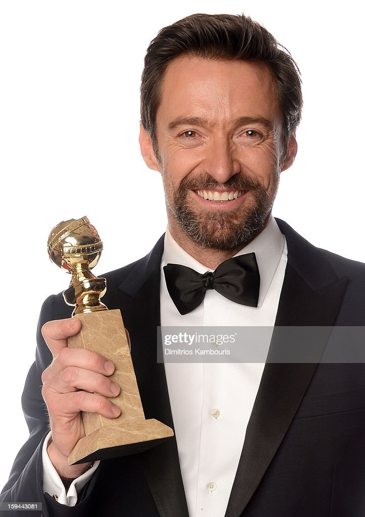 Actor <a gi-track='captionPersonalityLinkClicked' href=/galleries/search?phrase=Hugh+Jackman&family=editorial&specificpeople=202499 ng-click='$event.stopPropagation()'>Hugh Jackman</a>, winner of the Best Performance by an Actor in a Motion Picture - Comedy Or Musical Award for 'Les Miserables' poses for a portrait at the 70th Annual Golden Globe Awards held at The Beverly Hilton Hotel on January 13, 2013 in Beverly Hills, California.