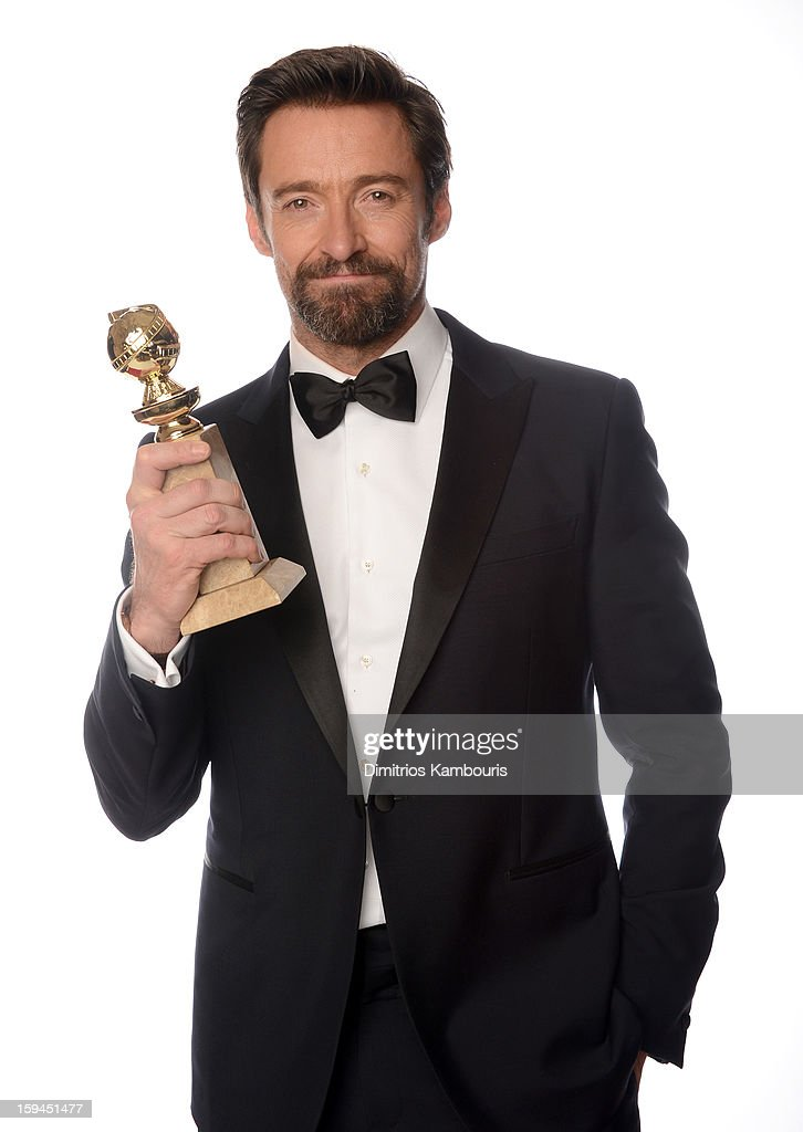 Actor <a gi-track='captionPersonalityLinkClicked' href=/galleries/search?phrase=Hugh+Jackman&family=editorial&specificpeople=202499 ng-click='$event.stopPropagation()'>Hugh Jackman</a>, winner of the 'Best Performance by an Actor in a Motion Picture - Comedy Or Musical Award for 'Les Miserables' poses for a portrait at the 70th Annual Golden Globe Awards held at The Beverly Hilton Hotel on January 13, 2013 in Beverly Hills, California.