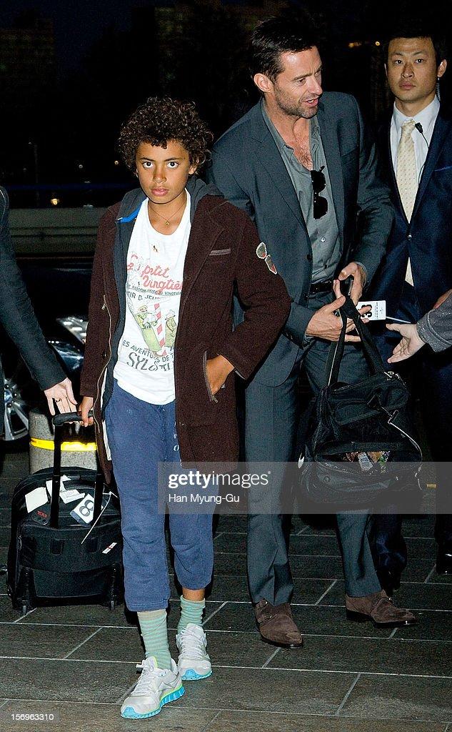 Actor Hugh Jackman's son Oscar Maximillian Jackman is seen at Gimpo International Airport on November 26, 2012 in Seoul, South Korea.