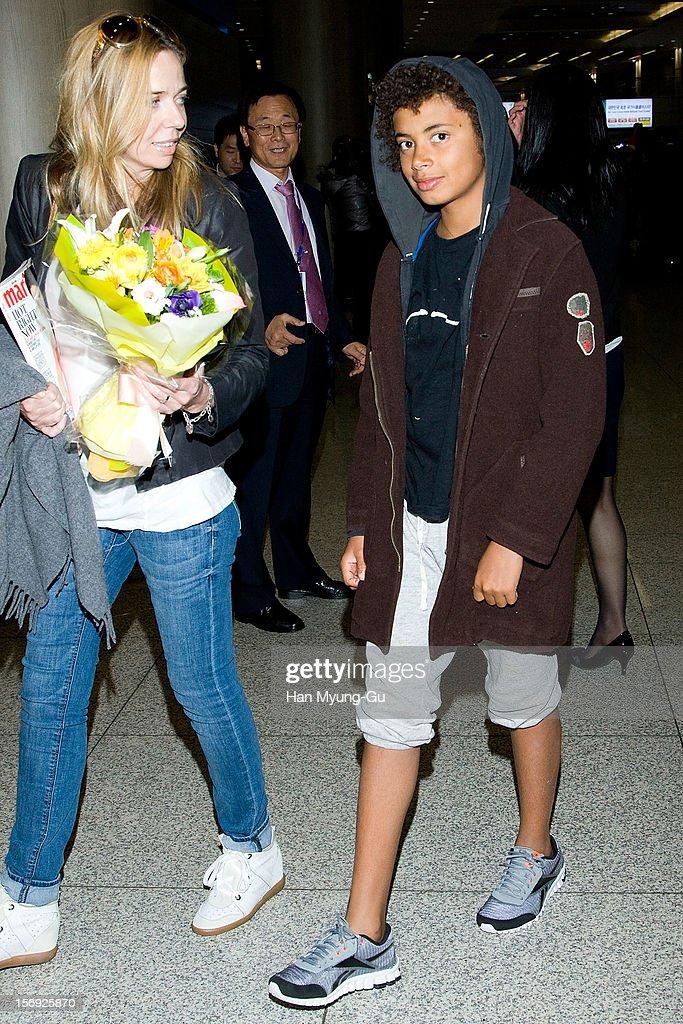 Actor Hugh Jackman's son Oscar Maximillian Jackman is seen upon arrival at Incheon International Airport on November 25, 2012 in Incheon, South Korea.