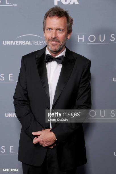 Actor Hugh Laurie arrives at Fox's 'House' Series Finale Wrap Party at Cicada on April 20 2012 in Los Angeles California
