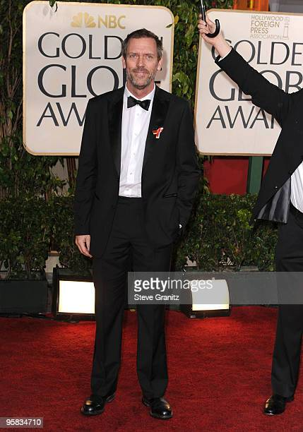Actor Hugh Laurie arrives at the 67th Annual Golden Globe Awards at The Beverly Hilton Hotel on January 17 2010 in Beverly Hills California