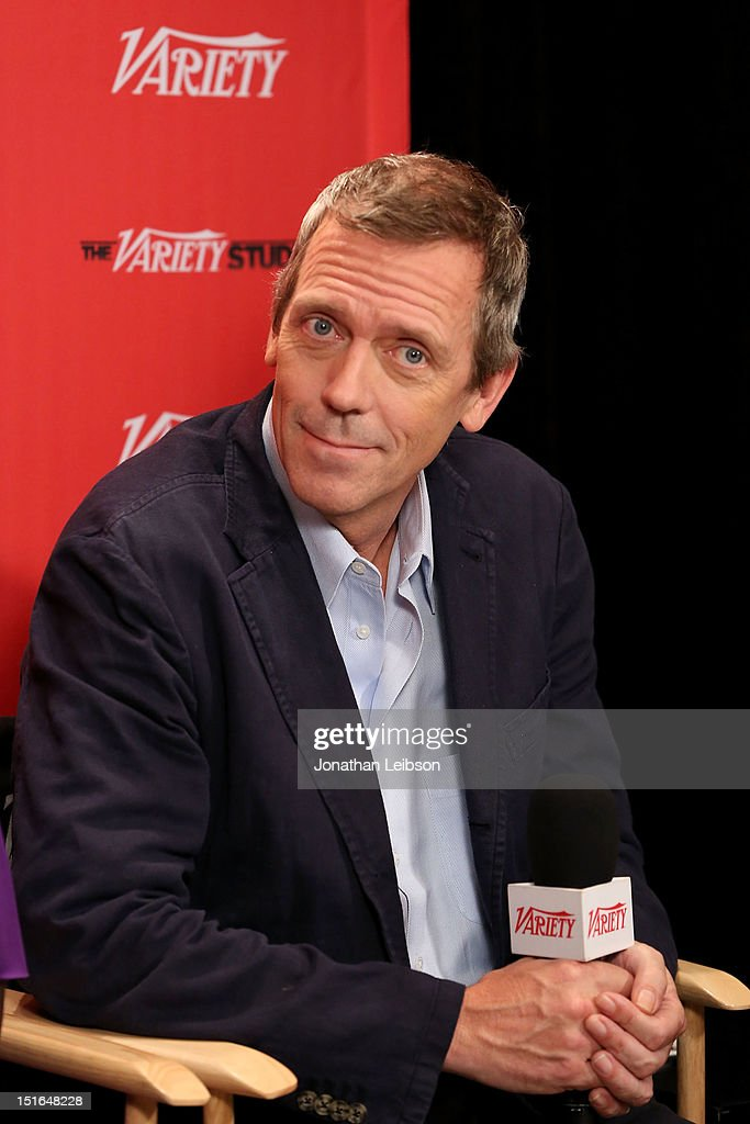Actor <a gi-track='captionPersonalityLinkClicked' href=/galleries/search?phrase=Hugh+Laurie&family=editorial&specificpeople=217383 ng-click='$event.stopPropagation()'>Hugh Laurie</a> attends Variety Studio presented by Moroccanoil at Holt Renfrew on Day 2 at Holt Renfrew, Toronto during the 2012 Toronto International Film Festival on September 9, 2012 in Toronto, Canada.