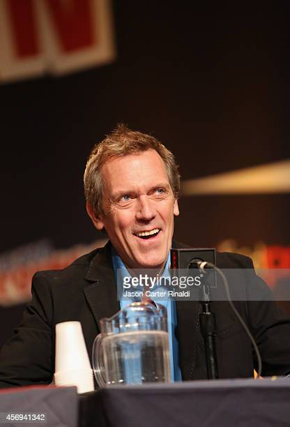 Actor Hugh Laurie attends Walt Disney Studios' 2014 New York Comic Con presentation of 'Tomorrowland' at the Javits Convention Center on Thursday...