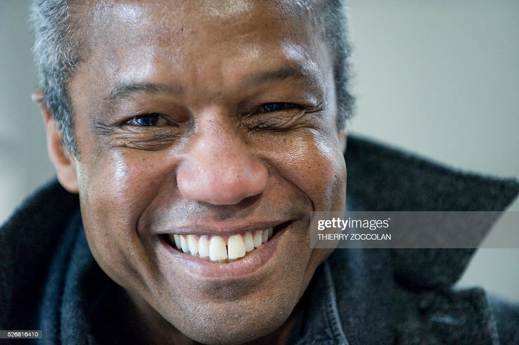 Actor Hugh Quarshie poses during a Star Wars convention in Cusset, on May 1, 2016. / AFP / Thierry Zoccolan