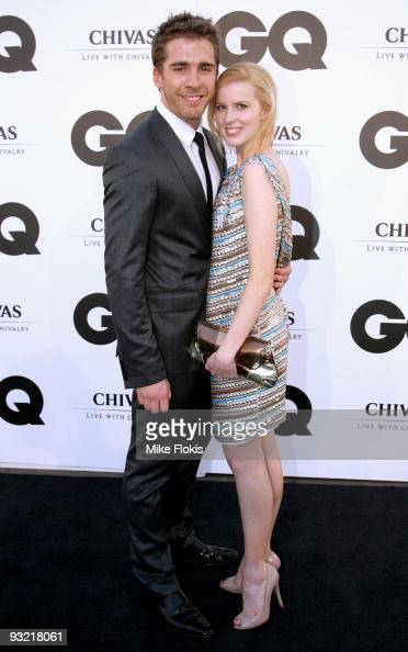 Actor Hugh Sheridan and Emma Bell arrive for the 2009 GQ Men Of The Year Awards at Sydney University on November 19 2009 in Sydney Australia