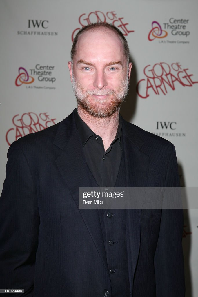 Actor Hugo Armstrong poses during the arrivals for the opening night performance of 'God of Carnage' at Center Theatre Group's Ahmanson Theatre on April 13, 2011 in Los Angeles, California.