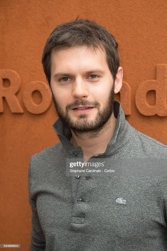 Actor Hugo Becker attends day seven of the 2016 French Open at Roland Garros on May 28, 2016 in Paris, France.