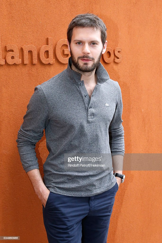 Actor Hugo Becker attends Day Seven of the 2016 French Tennis Open at Roland Garros on May 28, 2016 in Paris, France.