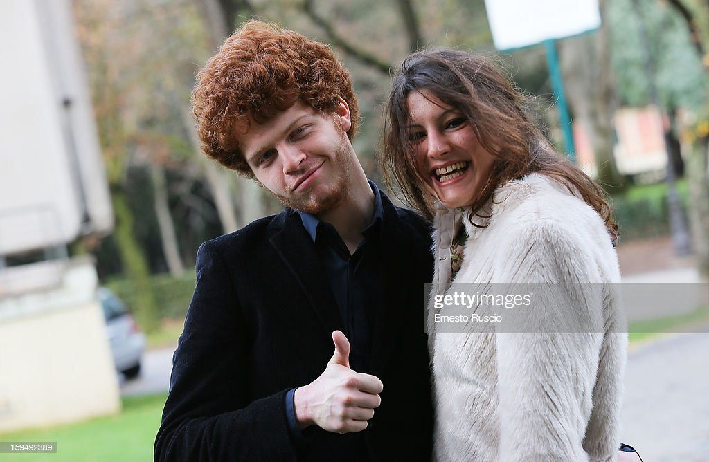 Actor Hugo Conzelmann and actress Carole Combes attend the 'Apres Mai' photocall at Casa del Cinema on January 14, 2013 in Rome, Italy.