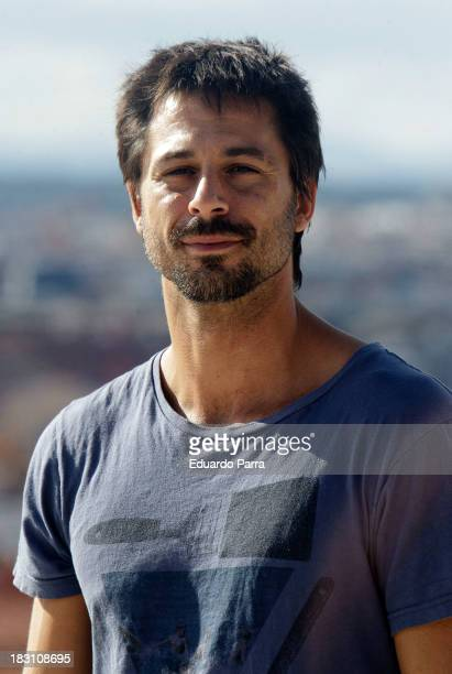 Actor Hugo Silva attends 'Dioses y perros' filming meeting with the press at Las Tetas Park on October 4 2013 in Madrid Spain
