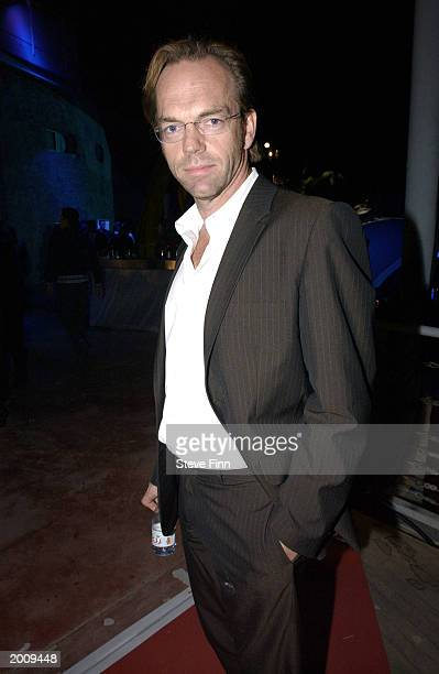 Actor Hugo Weaving attends MTV/T3 party at Pierre Cardin's Villa during 56th International Cannes Film Festival 2003 on May 17 2003 in Cannes France
