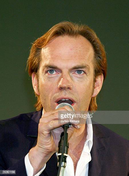 Actor Hugo Weaving attends the premiere for 'The Matrix Reloaded' May 26 2003 in Tokyo Japan