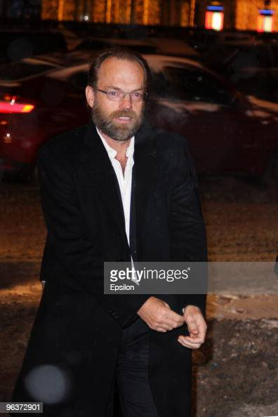 Actor Hugo Weaving attends the Russian premiere of 'The Wolfman' on February 2 2010 in Moscow Russia