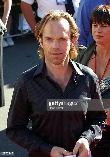 Actor Hugo Weaving attends the World Premiere of 'Lord of the Rings Return of the King' held on December 1 2003 at the Embassy Theatre in Wellington...