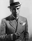 Actor Humphrey Bogart poses for a publicity still for the Warner Bros film 'Kid Galahad' in 1937 in Los Angeles California
