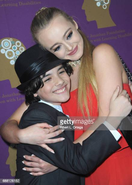 Actor Hunter Payton and model Savannah Kennick arrive for The Jonathan Foundation Presents The 2017 Spring Fundraising Event To Benefit Children With...