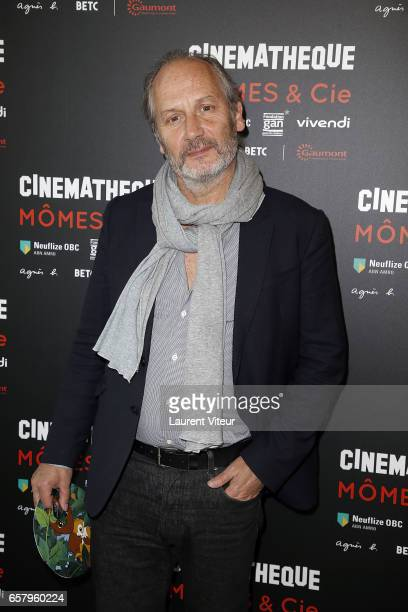 Actor Hyppolite Girardot attends 'Momes et Cie' Exhibition Launch at Cinematheque Francaise on March 26 2017 in Paris France
