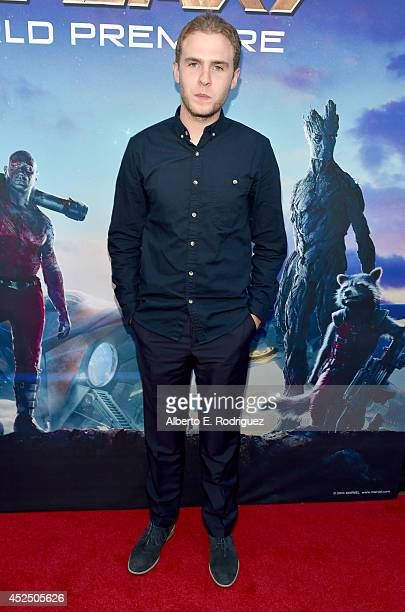 "Actor Iain De Caestecker attends The World Premiere of Marvel's epic space adventure ""Guardians of the Galaxy"" directed by James Gunn and presented..."
