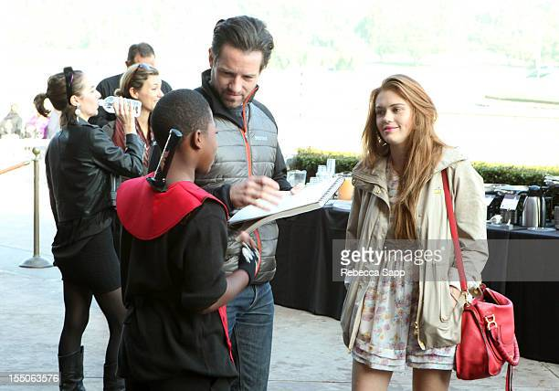 Actor Ian Bohen and actress Holland Roden at Children Mending Hearts Kids' Breakfast at the Track Event at Santa Anita Park on October 31 2012 in...