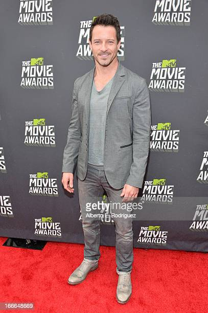 Actor Ian Bohen arrives at the 2013 MTV Movie Awards at Sony Pictures Studios on April 14 2013 in Culver City California