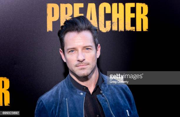 Actor Ian Bohen arrives for the Premiere Of AMC's 'Preacher' Season 2 at The Theatre at Ace Hotel on June 20 2017 in Los Angeles California