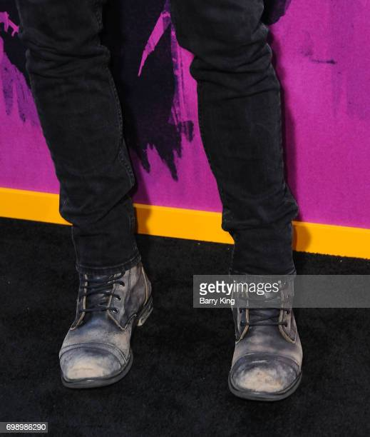 Actor Ian Bohen shoe detail attends the Premiere of AMC's 'Preacher' Season 2 at The Theatre at Ace Hotel on June 20 2017 in Los Angeles California