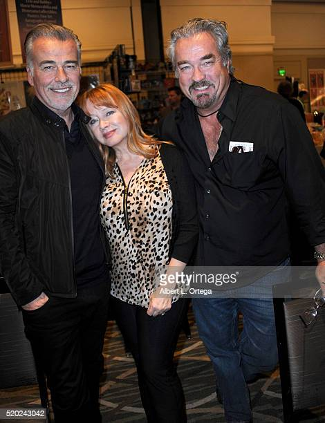 Actor Ian Buchanan actress Andrea Evans and actor John Callahan at the The Hollywood Show held at Westin LAX Hotel on April 9 2016 in Los Angeles...