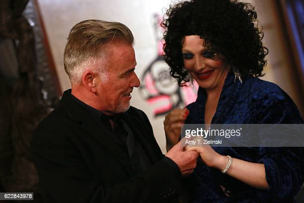 Actor Ian Buchanan who portrayed Dick Tremayne on 'Twin Peaks' poses with a David Lynch fan dressed as Dorothy Vallens Isabella Rossellini's...
