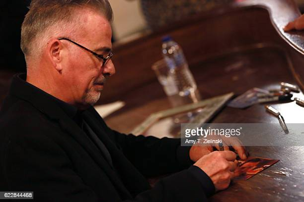 Actor Ian Buchanan who portrayed Dick Tremayne on 'Twin Peaks' signs autographs during the Twin Peaks UK Festival 2016 at Hornsey Town Hall Arts...