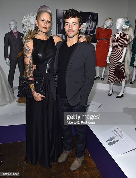 Actor Ian Harding and costume designer Mandi Line attend the Academy of Television Arts Sciences' Costume Design Nominee Reception at FIDM Museum...