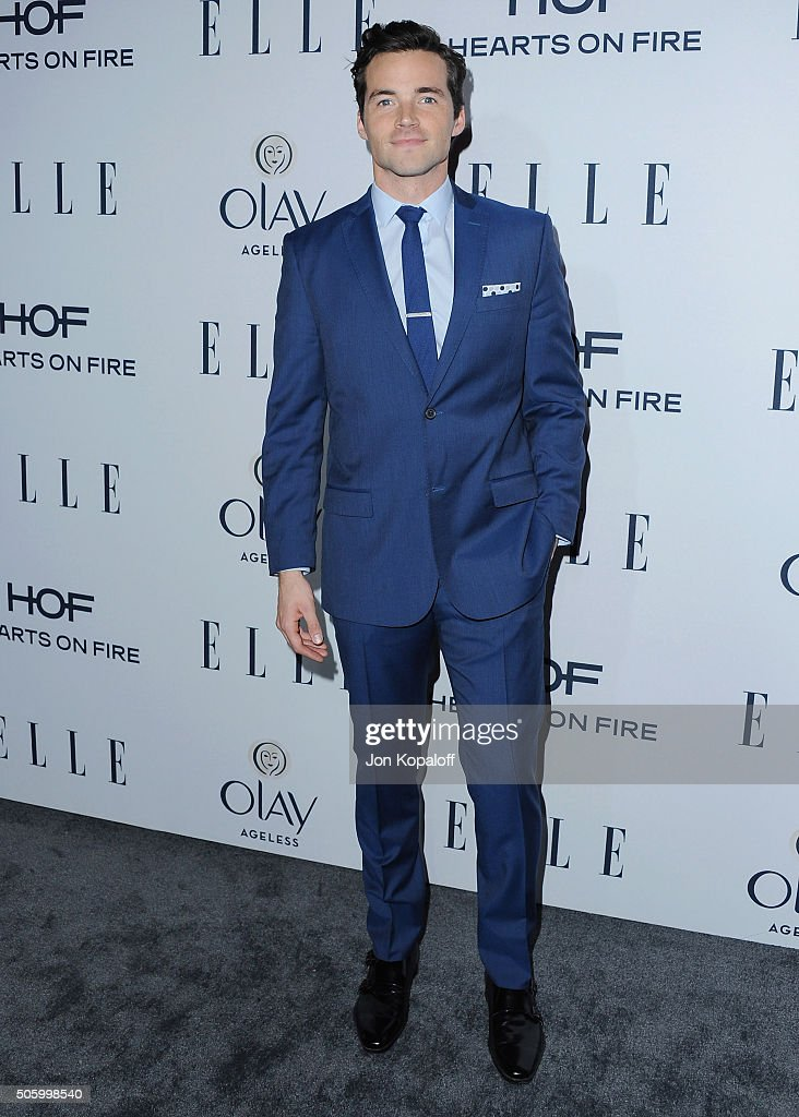 Actor Ian Harding arrives at ELLE's 6th Annual Women In Television Dinner at Sunset Tower Hotel on January 20, 2016 in West Hollywood, California.